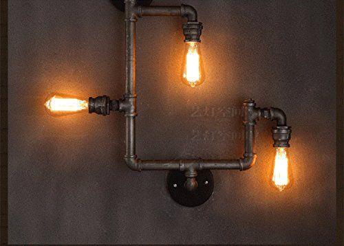Creative Arts lampe loft personnalitšŠ bar-restaurant de style ršŠtro de pays d'AmšŠrique murale plomberie industrielle allšŠe