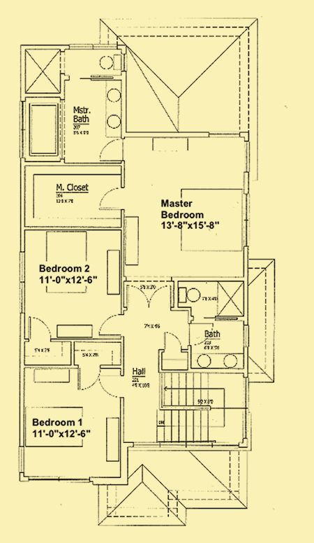 Second floor architectural house plans floor plan for Modern prairie house plans