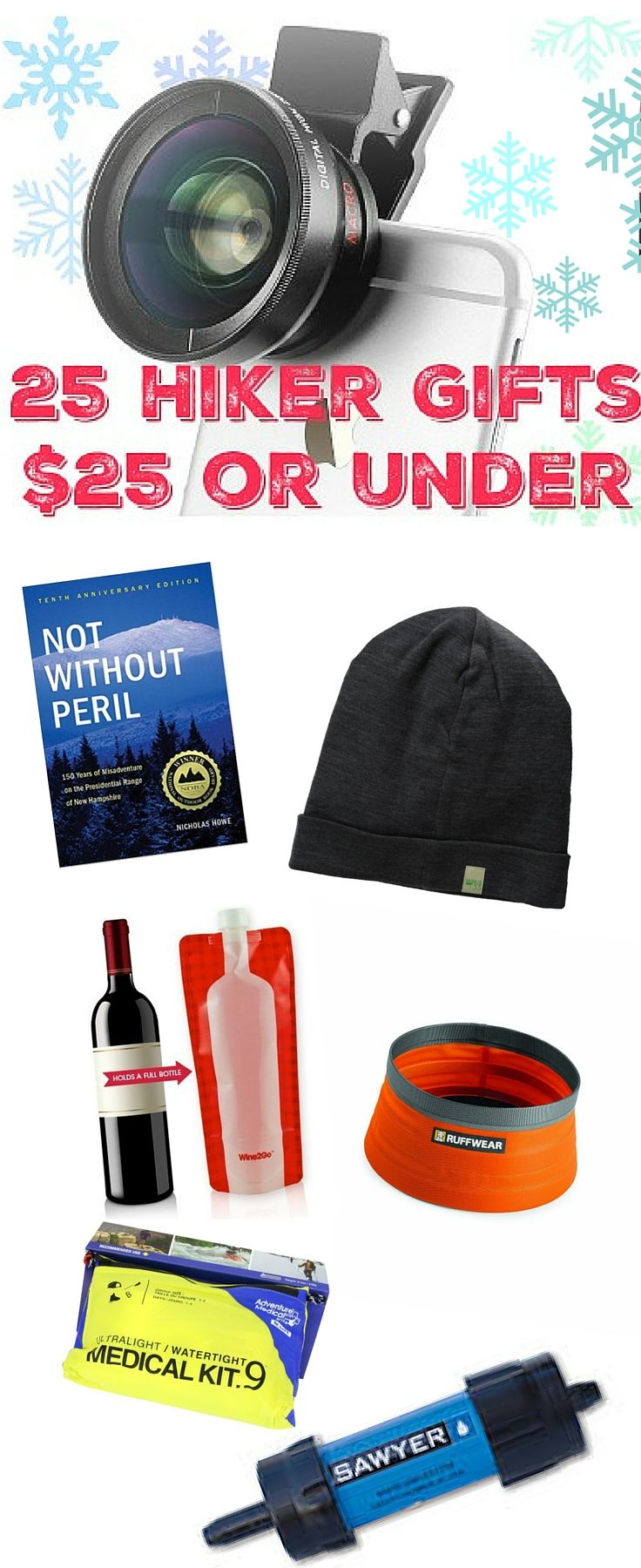 Great gift ideas for hikers all $25 or less! - trailtosummit.com