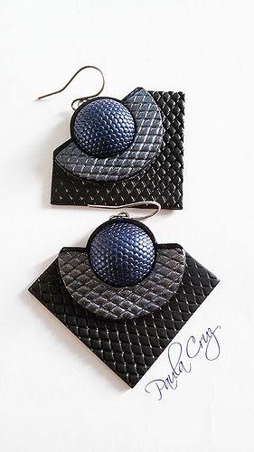 Polymer Clay earrings (textures and facet eyes) | por Paula Cruz - Polymer Clay Artist