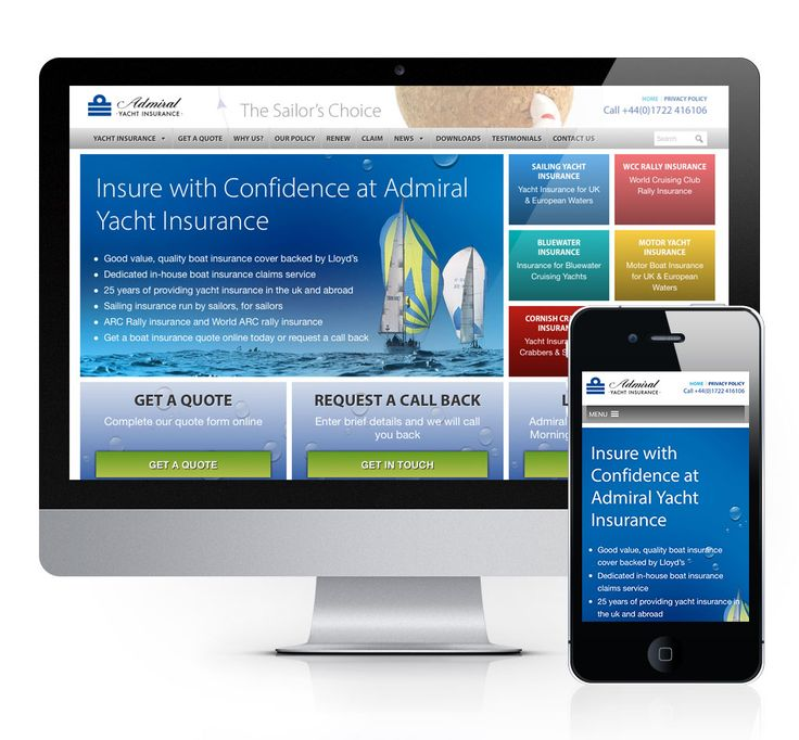 Admiral Yacht Insurance Home Page