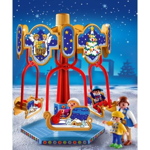 Perfect christmas decoration playmobil 4888 sled carousel 12 playmobil - Playmobil geant decoration ...