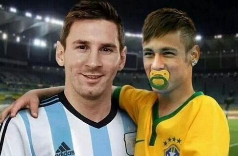 Messi es el papá de Neymar Meme