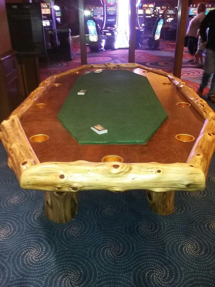 Cedar Log Poker Table, Full Size - www.facebook/philswildwoodcreations