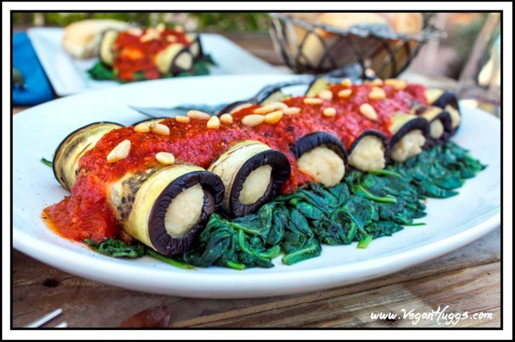 Vegan Eggplant Rollatini with Cashew Ricotta