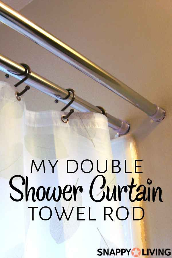 How I Made My Own Double Shower Curtain Rod Double Shower