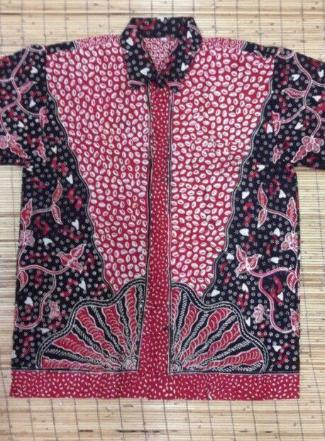 Men Shirt , Batik Tulis Jatim ( handmade ) , short sleeve ,  $ 15