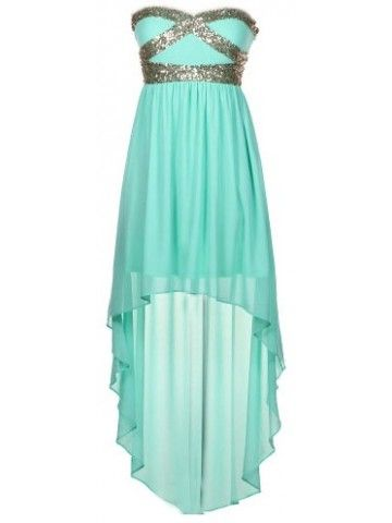 Sweetheart Sequin High-Low Dress... Matt lets go somewhere that warrants me to wear this