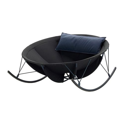 IKEA - IKEA PS 2017, Rocking chair, Rocks and soothes you while you read a book, listen to music or just daydream for a moment.The floor is protected from scratches since the rockers have plastic strips.The cushion cover is easy to keep clean and fresh, as you can take it off and machine-wash it.