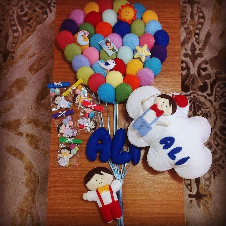 Baby boy  Baloon Balon kapı süsü Takı yastığı Magnet