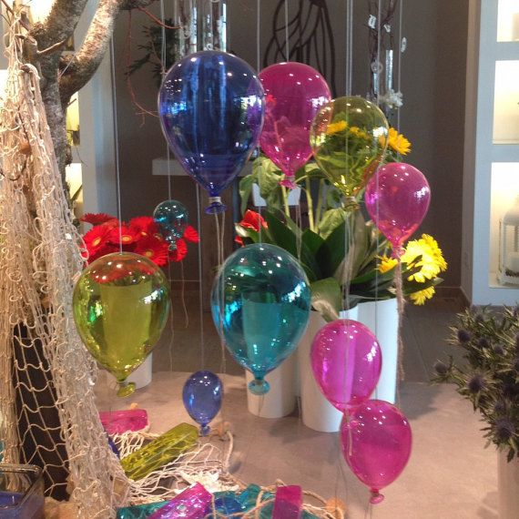 H 5.9 inch / Blown Glass Small Balloon Various by vetroedesign