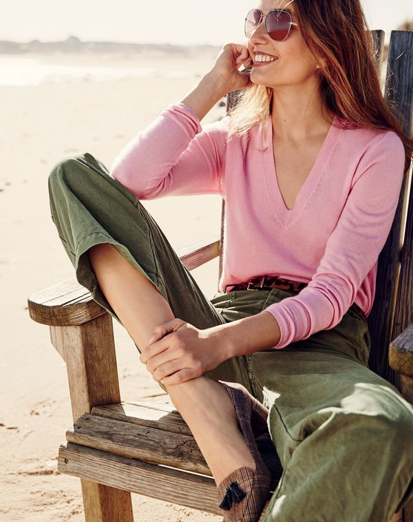 What we do at J.Crew: Italian featherweight cashmere.