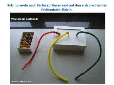 Autismus Arbeitsmaterial: TEACCH: nach Farbe sortieren