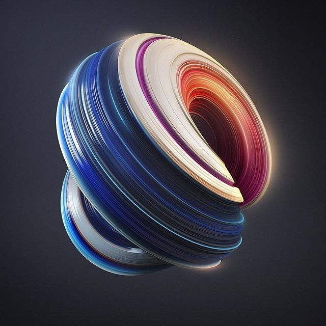 Swirl  #ballentas #design #art #abstract #3d #rikoostenbroek #adobe #photoshop #experiment #c4d #illustration #artistsoninstagram #print #creative #rsa_graphics #thedesigntip #thednalife #swirl #dynamic #generativeart #vray