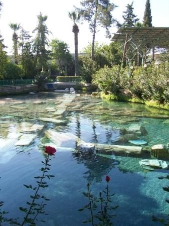Cleopatra's Pool - thermal mineral pool of ancient Greece