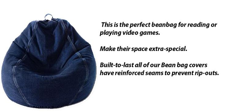 Josh loves this mongrammed pear shaped bean bag chair