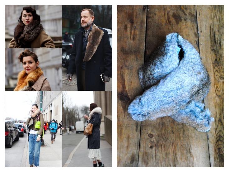 Fur collars (The Sartorialist / Brussosa)