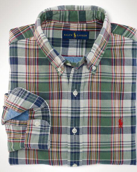 Double-Faced Madras Shirt - Polo Ralph Lauren Standard-Fit - RalphLauren.com