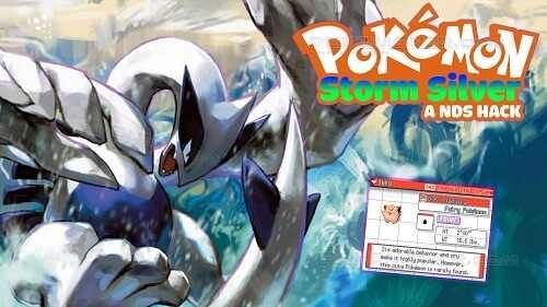 http://www.pokemoner.com/2015/12/pokemon-storm-silver.html Pokemon Storm Silver  Name: Pokemon Storm Silver Remake by: Drayano Remake from: Pokemon Soul Silver Description: Sacred Gold and Storm Silver are the fourth set of hacks/edits I've done now; others you might be familiar with are Pokémon Fire Red Omega Pokémon Spirit Gold and for those of you native to GBAtemp Pokémon Blaze Black and Volt White. Given that it's one of my hacks it has a pretty similar style in the sense that all…
