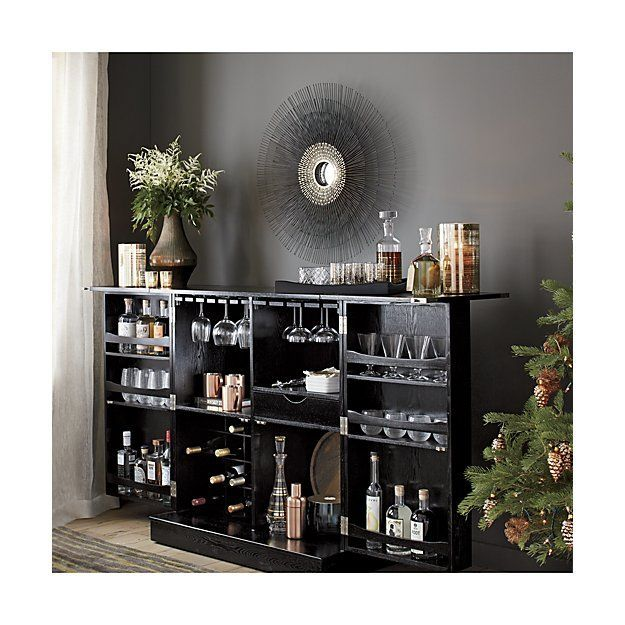 Starburst Round Wall Mirror | Crate And Barrel #homebarcabinet Home Bar  Plans, Round Wall