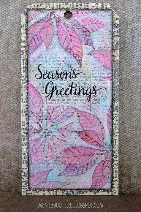 12 Tags for Christmas 2017 - Seasons Greetings