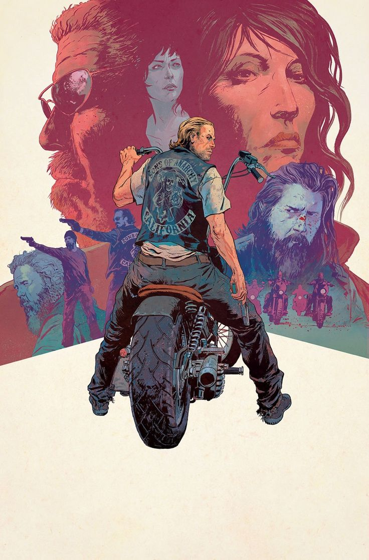 Variant cover for the final issue of Sons Of Anarchy. Published by Boom! Studios.
