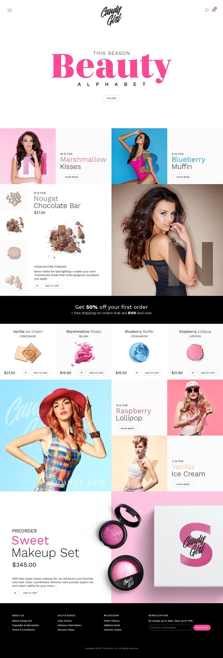 Candy Girl - ecommerce website template