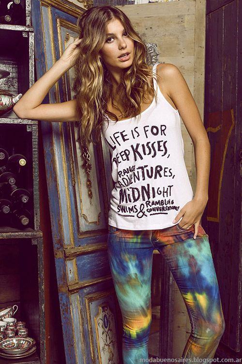 Ossira primavera verano 2015 moda en looks femeninos y - Moda boho chic ...