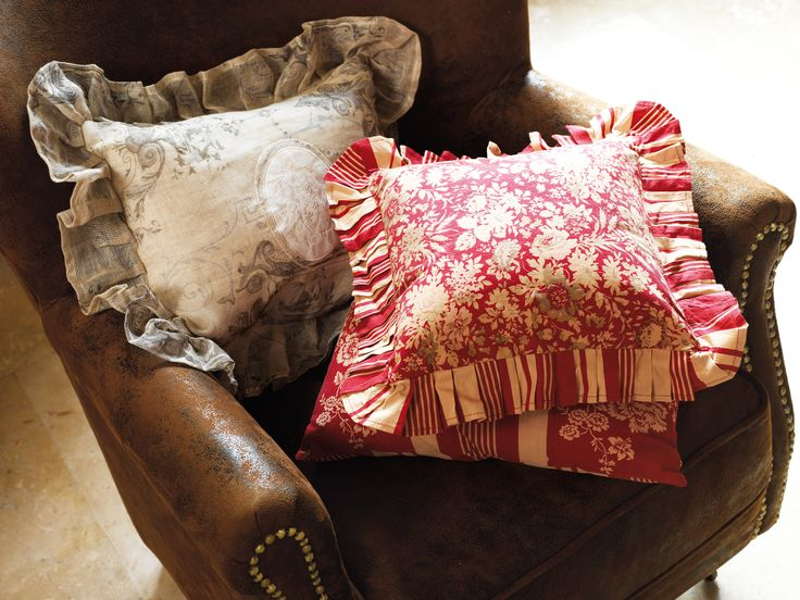 Cozy and comfortable armchair and pillows from Comptoir de Famille