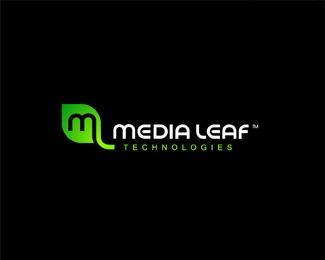 """Media Leaf"" Logo technologies inspiration"