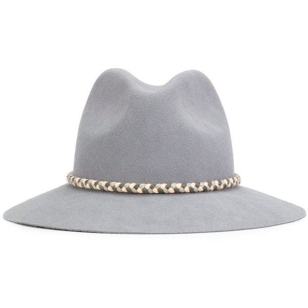 Yosuzi 'Asema' hat ($445) ❤ liked on Polyvore featuring accessories, hats, grey, grey hat and gray hat