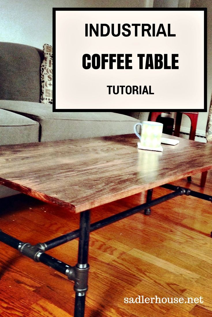 Make your own craft table - Industrial Coffee Table Tutorial