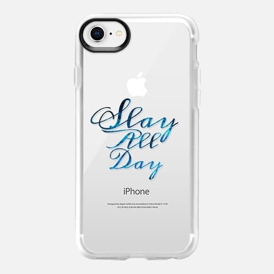 SLAY ALL DAY, BLUE By Artist Julia Di Sano, Ebi Emporium on Casetify, iPhone Case #iphonecase #slay #slayallday #minimalist #EbiEmporium #Casetify #CasetifyArtist #blue #indigo #cobalt #want #musthave #clearcase #transparent #case #iphone6 #iphone7 #iphone8 #iphonex #iphone7plus #iphone8plus #samsung #typography #font #girlboss #tech