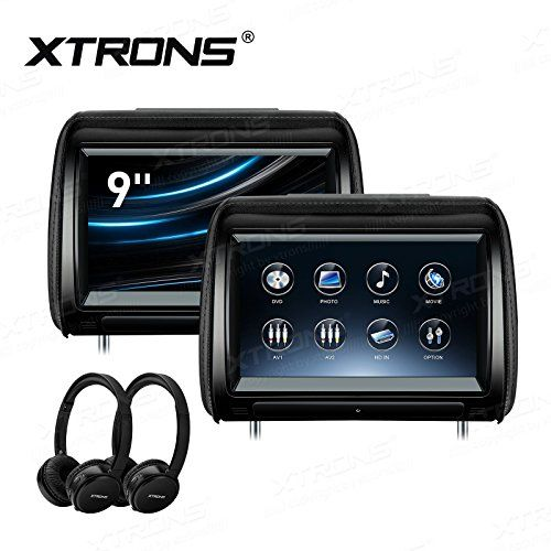 XTRONS 2 x 9 Inch Pair Car Headrest DVD Player HD Digital