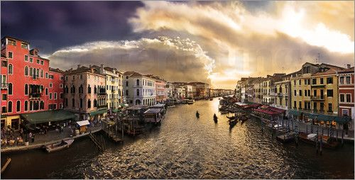 Canale Grande, Venedig Bilder: Poster von Michael Rucker bei Posterlounge.de