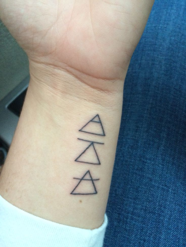 """These three glyphs symbolize """"Explore. Challenge. Transcend."""" They serve as a daily reminder for me to never stop exploring the world around me, challenging myself to never settle and strive for more, and to transcend and go beyond any limits. #tattoo"""
