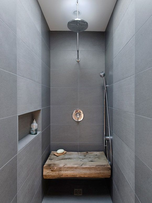dream bathroom - gray tile, rain shower, ahhhh