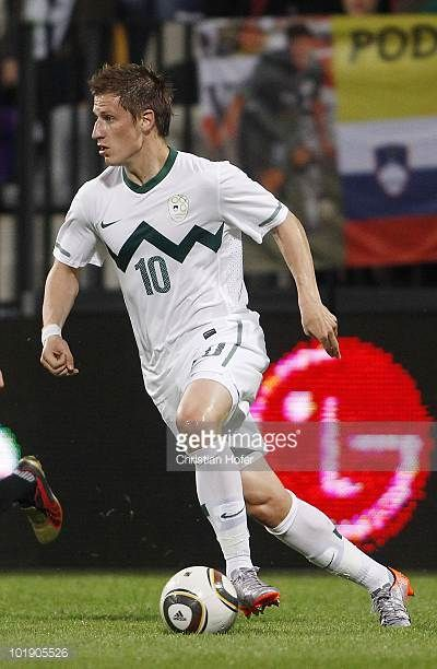 Valter Birsa of Slovenia in action during the International Friendly match between Slovenia and New Zealand at the Stadion Ljudski vrt on June 4 2010...
