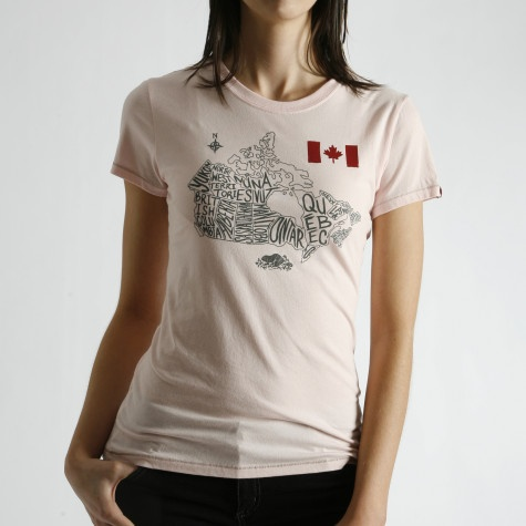 I wanted this t-shirt in grey but they were sold out of it in my size... Think the map design is really cute. Could work as a fun print for our gallery wall #Canada
