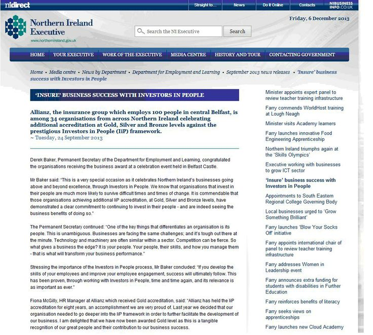Allianz Insurance Belfast - 1 of 34 Investors in People