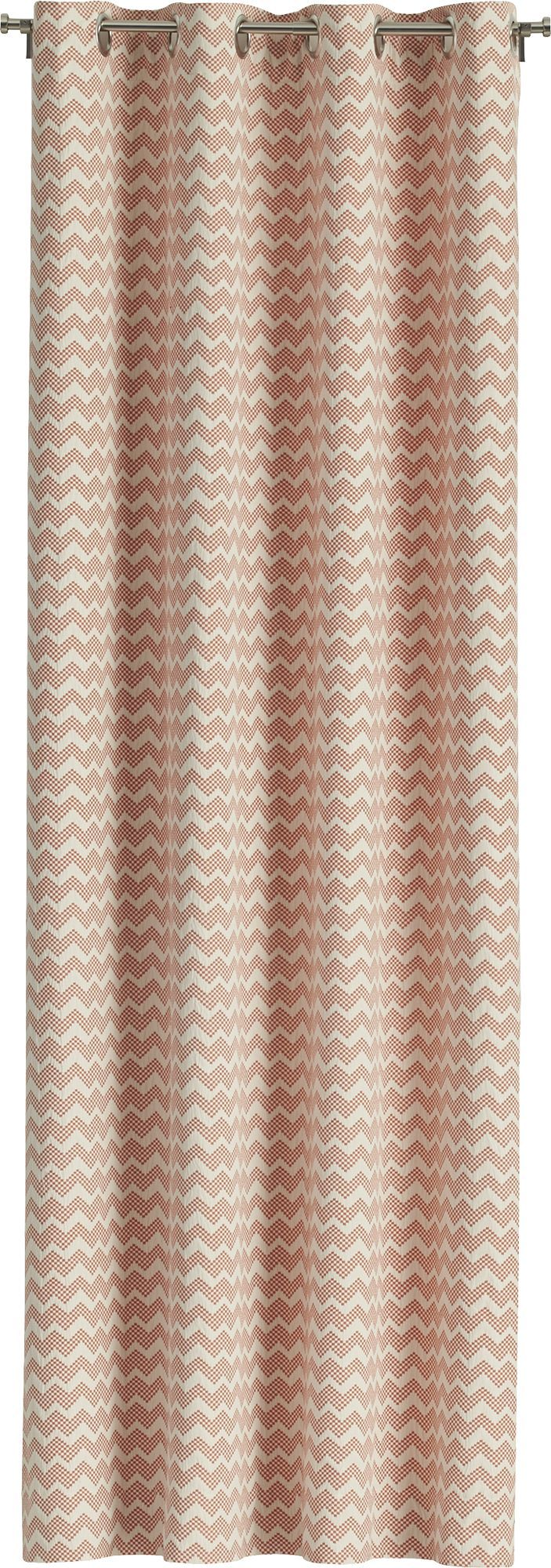 Reilly Orange Curtain Panels  | Crate and Barrel