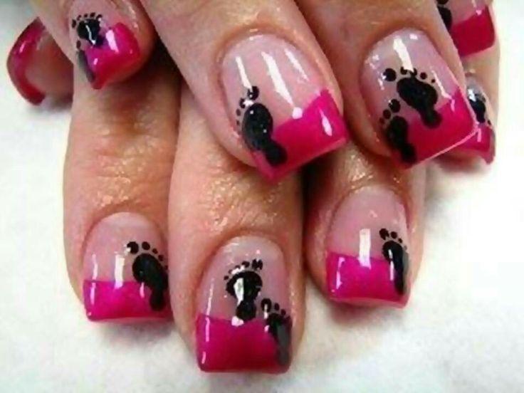 Baby feet nail designs, too cute! - 27 Best Baby Shower Nail Designs Images On Pinterest Baby Shower