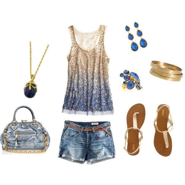 Blue holidayPinterest Fashion, Summer 3, Fashion Outfits, Summer Outfits, Blue Summer, Fun Outfit, Summer Time