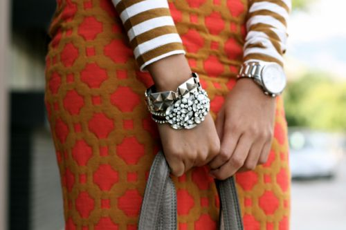 : Bracelet, Fashion, Mixing Patterns, Mixed Patterns, Style Inspiration, Color, Mixing Prints