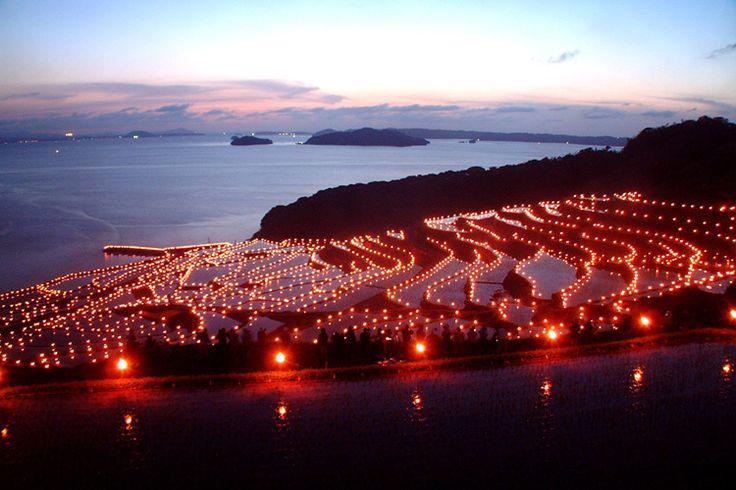 土谷棚田の火祭り | 秋の九州・山口 癒しの絶景と紅葉 | 九州カラフルNAVI