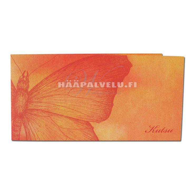 Perhonen -kutsukortit. 21 x 10 cm.
