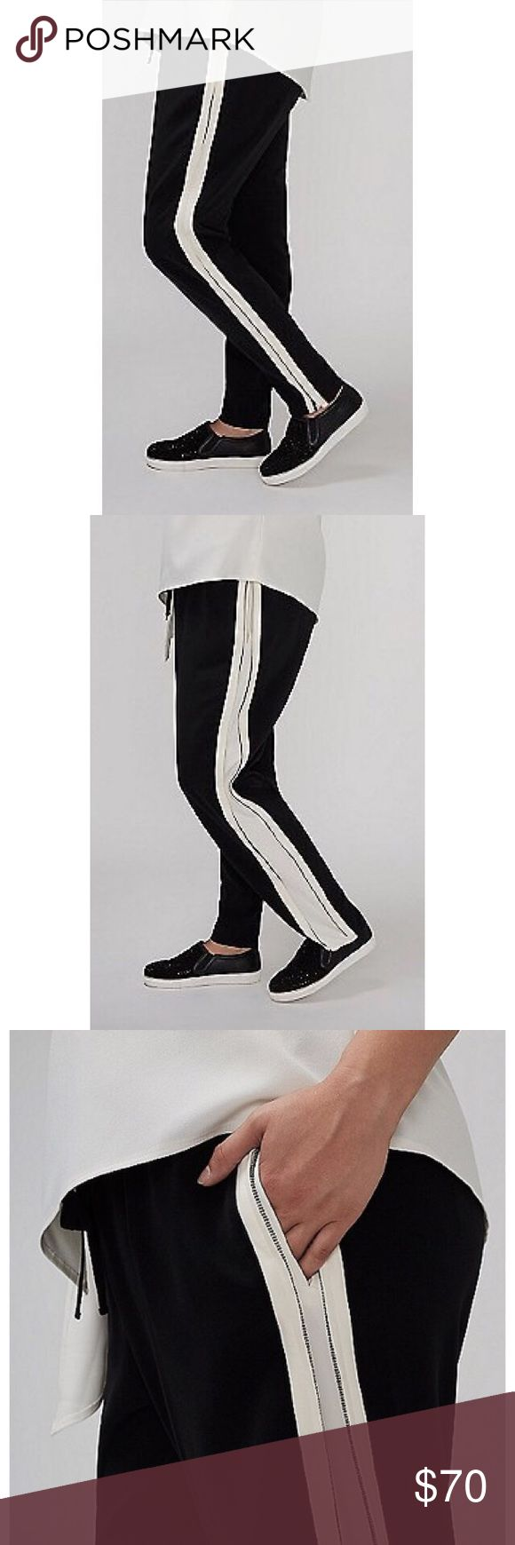 Jogger with Zipper Elastic waist jogger with tie. Side zips with pockets. Pockets in back. Size 22/24 Lane Bryant Pants Track Pants & Joggers
