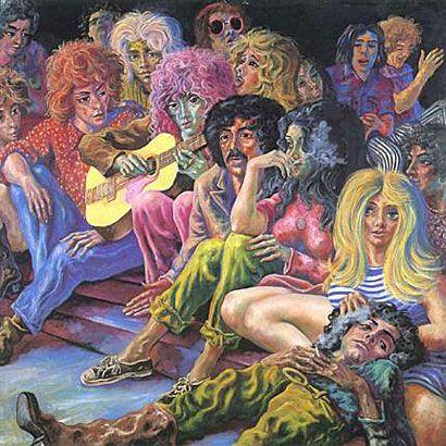 Los indiferentes, 1975, óleo s/tela, 200 x 200 cm. Fundación Federico Jorge Klemm. Buenos Aires