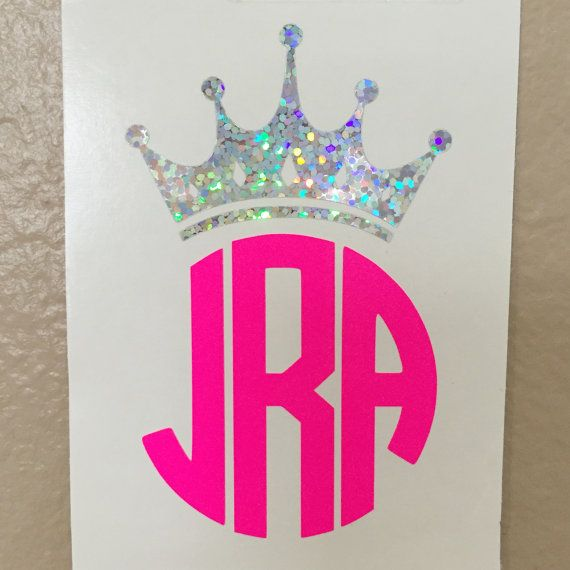 Crown Monogram Decal / Tiara Initials by SimplySierraStudio