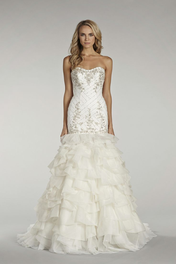 128 best lazaro images on pinterest wedding dressses lazaro ivory fit and flare gown with beaded elongated bodice textured organza skirt with beaded detail bridal gowns from lovelle by lazaro bridal style by jlm ombrellifo Choice Image